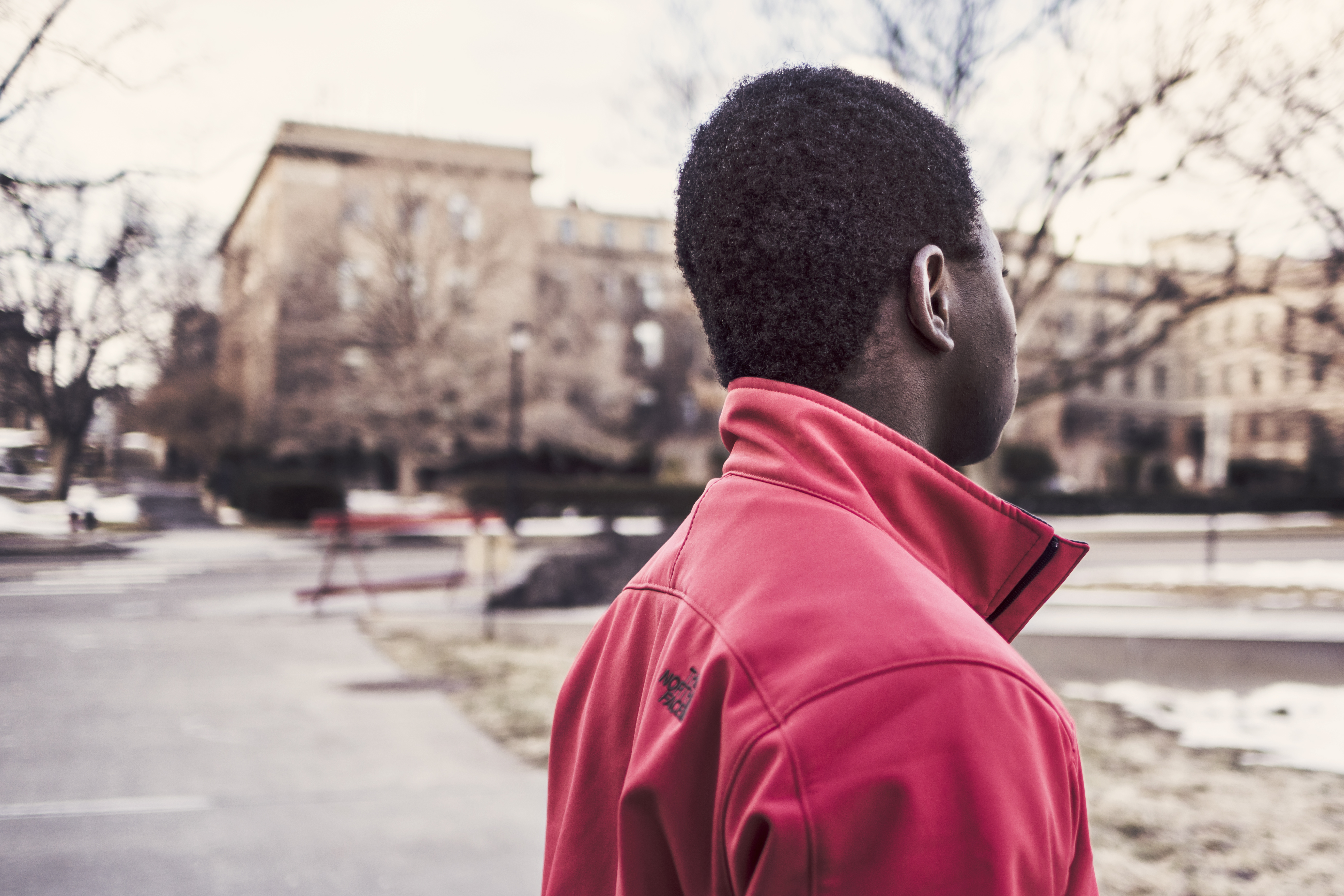 Guy red jacket