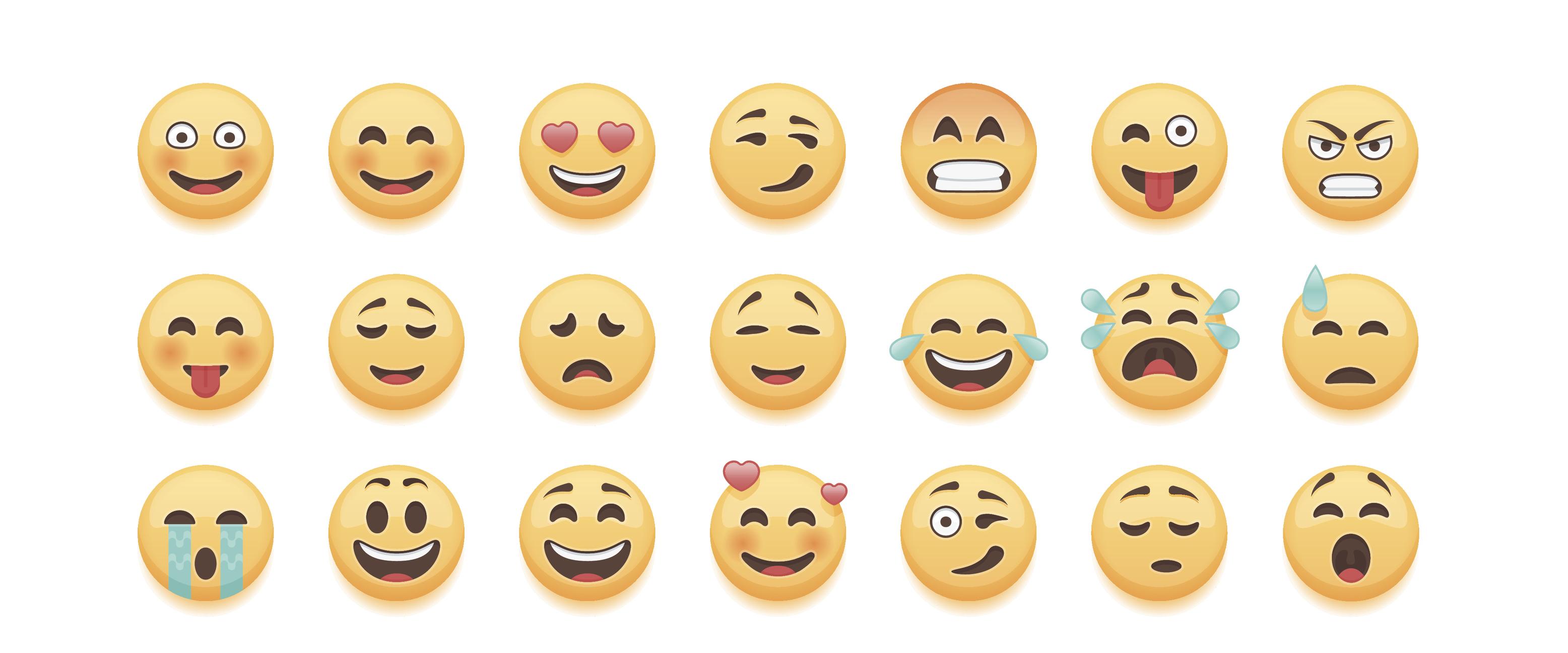 emoji rows