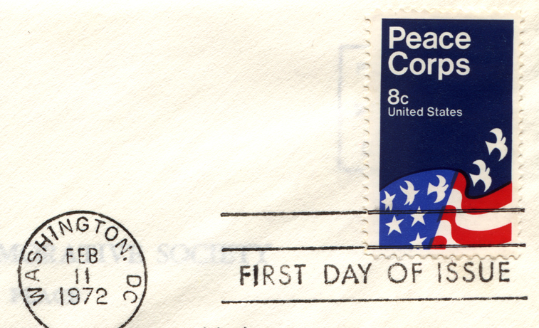 Peace Corps First Day Issue Stamp